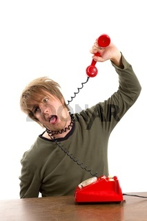 Man hanging himself with a phone cord