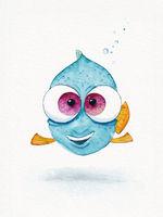 blue fish with big eyes