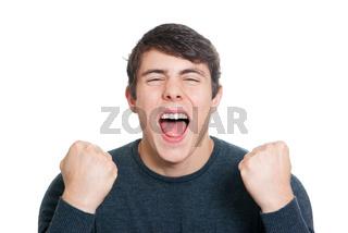 Jugendlicher freut sich