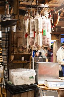 Die Wurstbude auf dem Hamburger Weihnachtsmarkt