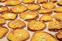 slices of dried persimmon fruit