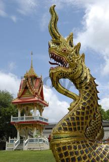 Naga at Wat Khun Chi in Phuket Town