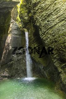 Wasserfall in Slowenien im Sommer