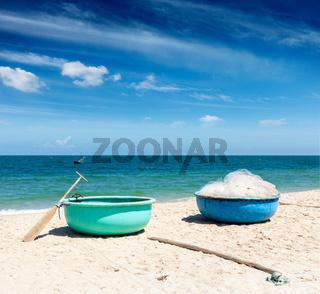 Fishing boats on beach. Mui Ne