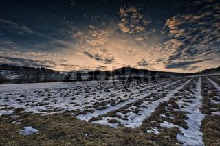Sonnenuntergang über Rehberg