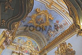 Deckenfresko der Kirche S. Maria dopra Minerva (Minervatempel)