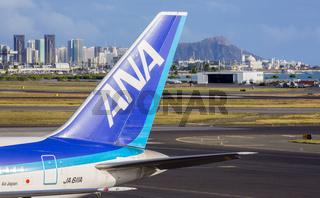 ANA Boeing 767 at Honolulu airport