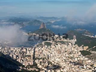Harbor and skyline of Rio de Janeiro Brazil