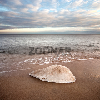 Winter seascape with ice