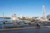 Cardiff Bay Waterside Seen from Welsh Parliament – Cardiff