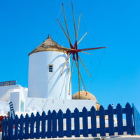 Windmill in Santorini