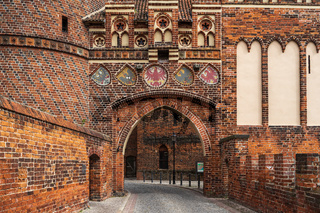 New city gate (Neustaedter Tor). The historic town of Tangermuende. Saxony-Anhalt state. Germany.