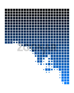 Karte von South Australia
