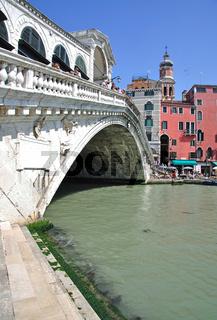 Canal Grande mit Rialto Brücke