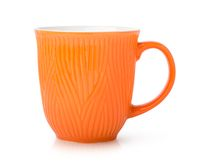 Orange cup isolated