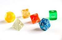 Special RPG colorful dices group