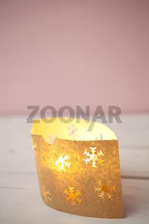 Weihnachten Kerze mit Papiertüte