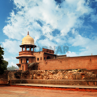Ruins of an ancient fort. India, Agra