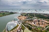 SINGAPORE, ASIA - FEBRUARY 3 : New Botanical Gardens under Const