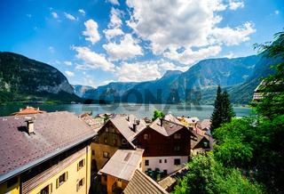 View of Hallstatt. Village in Austria.