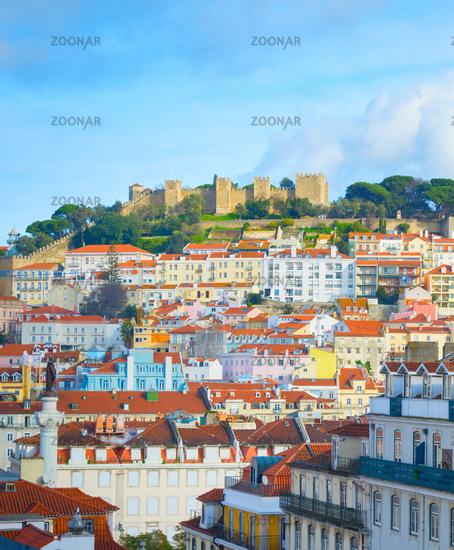 Lisbon Old Town Castle Portugal