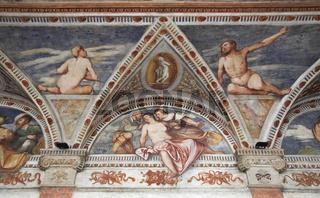 Fresken im Loggia del Romanino, Castello del Buonc