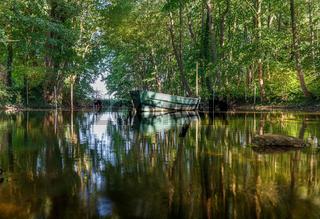 Deutschland, Mecklenburg Vorpommern, Mündung Fluss Mildenitz in den Rothener See, Rothen / Borkow, D