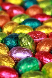 Eier aus Schokolade zu Ostern