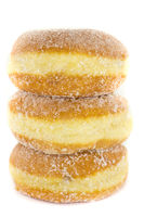 Stacked jelly donuts