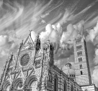 Siena, Italy. Wonderful view of Duomo, the Cathedral