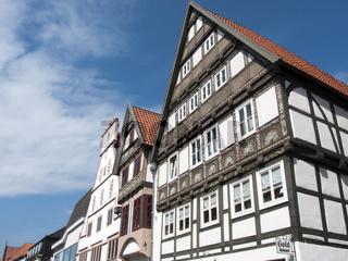 Reich verzierte Fassaden Lemgo Mittelstrasse