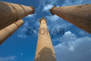Columns in Jerash, Jordan