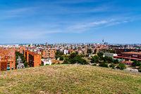 Skyline of Madrid from Tio Pio Par