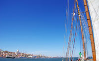 Sailboat near Lisbon, Portugal