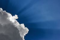 Cloud in front of sun