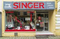 Filiale der Firma Singer in Kempten