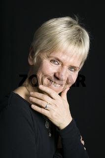 mature woman cheerful