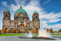 Berlin Germany, city skyline at Berlin Cathedral (Berliner Dom) with autumn foliage season
