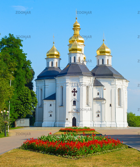 Famous Catherine's Church Chernihiv, Ukraine