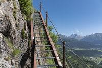 Klettersteig zwischen Bellwald und Aspi-Titter Hängebrücke Via ferrata between Bellwald and Aspi-Titter suspension bridge