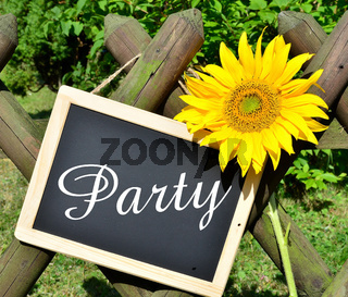 party Sonnenblumen Gartenzaun Garten