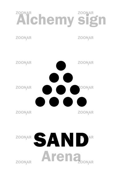 Alchemy Alphabet: SAND (Arena, Silica)