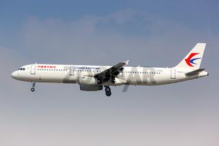 China Eastern Airlines Airbus A321 Flugzeug Flughafen Shanghai Hongqiao in China