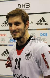 deutscher Handballer Michael Haaß  Frisch Auf Göppingen  DHB Handball-Bundesliga Saison 2012-13