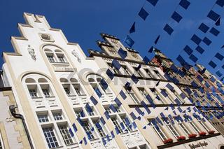 Gebäude am Prinzipalmarkt in Münster während des Eurocityfestes