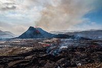 Fagradalsfjall volcanic eruption, Iceland