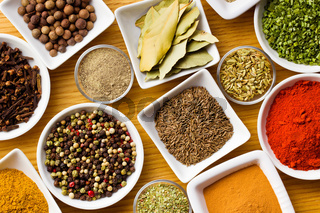 Various spices and herbs.