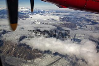 Grönlands Westküste aus der Luft
