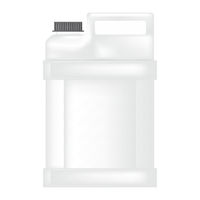 Plastic Gallon Icon Isolated on White Background. Canister of Milk