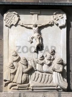 Siebenlingestein - Gedenkstein an der Marktkirche Hameln